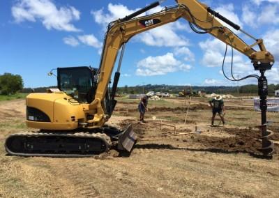 excavator-drill